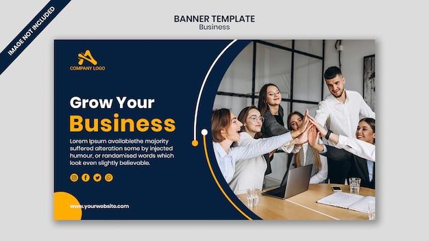 Reunião de trabalho modelo de banner de conferência de negócios
