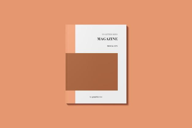 Revista americana capa de revista / maquete de livro