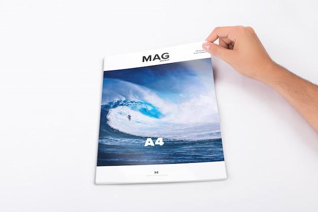 Revista de capa fechada maquete