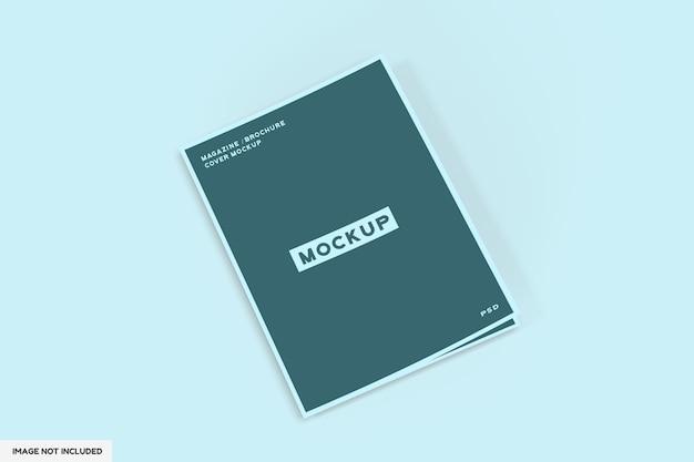Revista de capa ou maquete de brochura