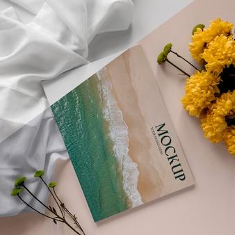 Revista de vista superior e variedade de plantas