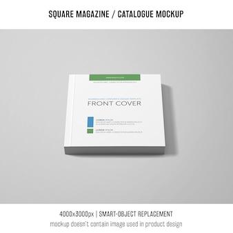 Revista quadrada de capa frontal ou maquete de catálogo