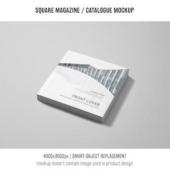Revista quadrada elegante ou maquete de catálogo