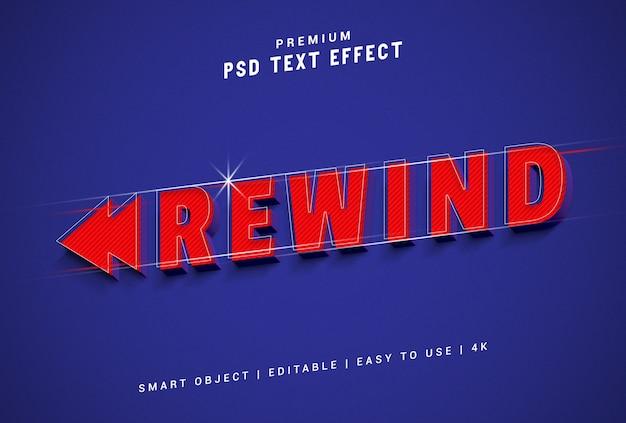Rewind text effect generator