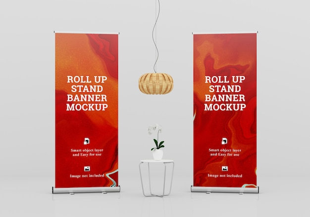 Roll up banner stand maquete