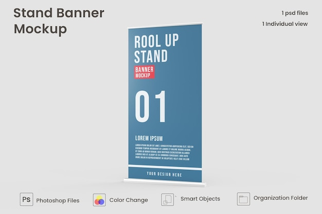 Rollup xbanner stand mockup