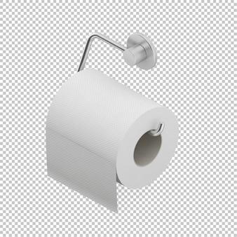 Rolo isométrico de papel higiênico