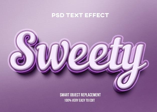 Rosa doce com efeito de texto de contorno granulado