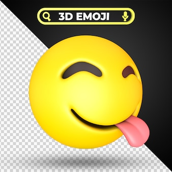 Rosto saboreando comida deliciosa emoji isolado