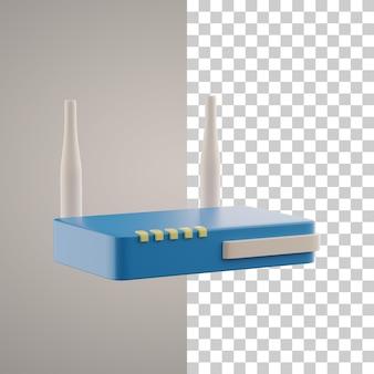 Roteador wifi 3d