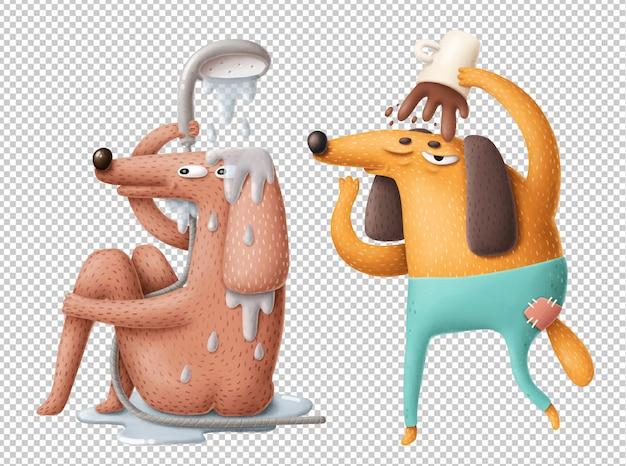 Rotina matinal dos desenhos animados clipart