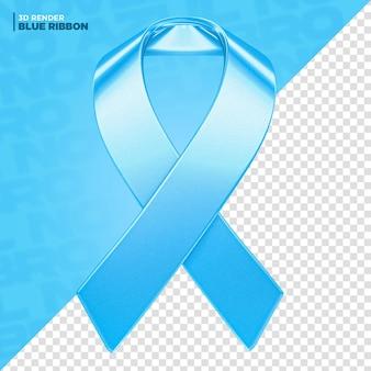Rótulo de fita azul de novembro em 3d renderização para composição