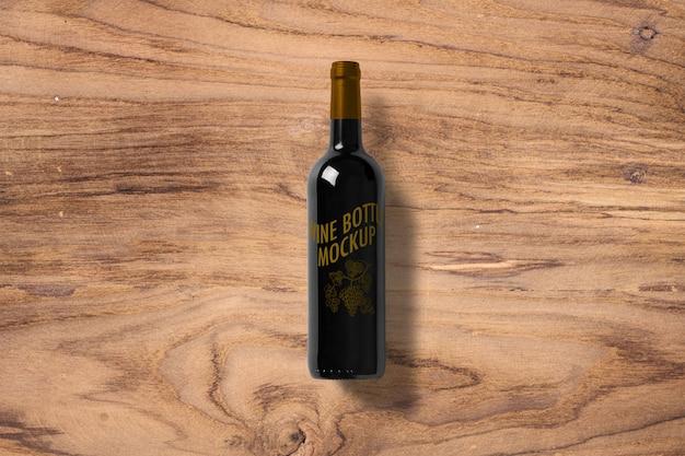 Rótulo de garrafa de vinho mockup