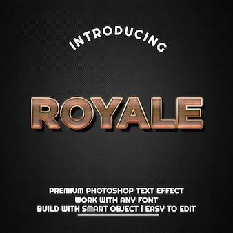 Royale - modelo de efeito de texto