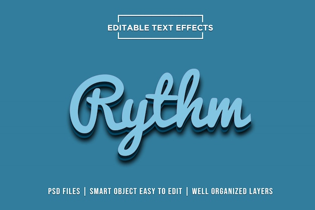 Rythm text effects