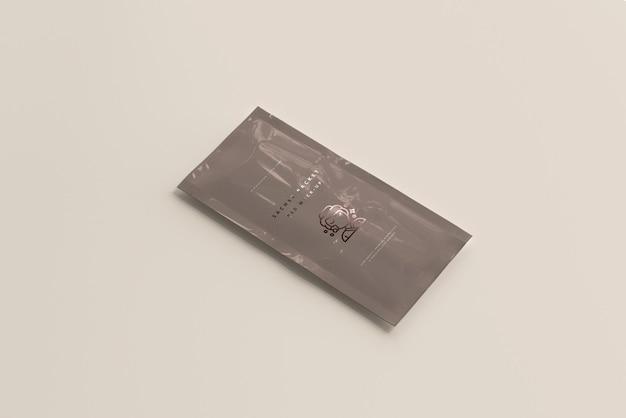 Sachê de plástico pacote maquete