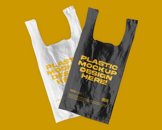 Saco de compras de plástico duplo