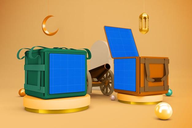 Saco de entrega de comida ramadan