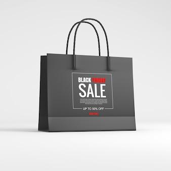 Saco de papel com venda de sexta-feira negra