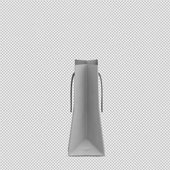 Saco isométrico 3d isolado render