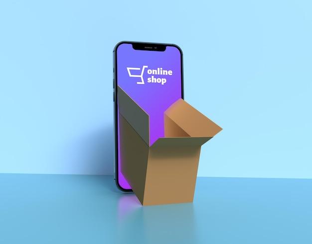 Saída de pacote de carga da maquete do telefone