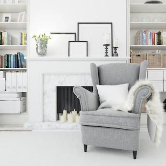 Sala aconchegante, poltrona confortável