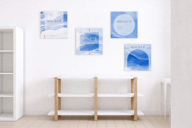Sala de artistas decorada