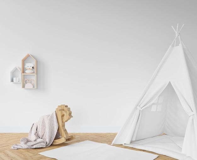 Sala de crianças com tenda branca