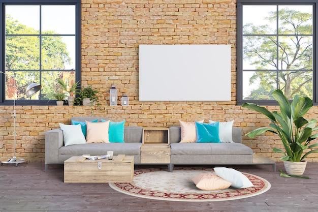 Sala de estar estilo áspero