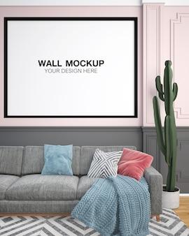 Sala de estar interior casa mock up