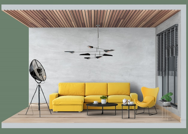 Sala de estar moderna interior