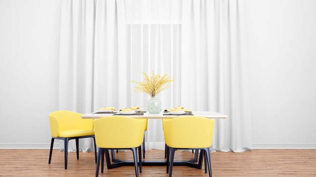 Sala de jantar com mesa