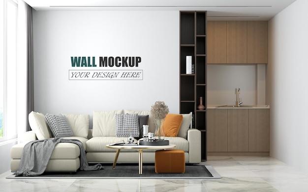 Sala decorada em estilo moderno