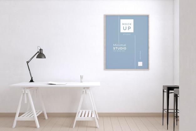 Sala do artista com mesa