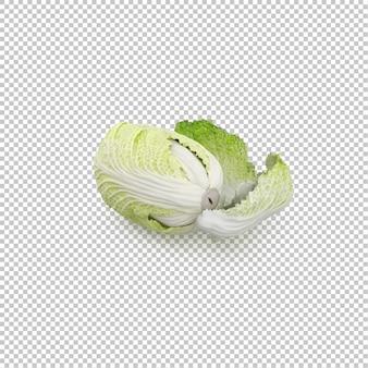 Salada iceberg isométrica