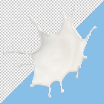 Salpicos de leite isolados
