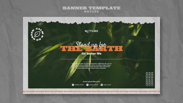 Salvar banner horizontal da natureza