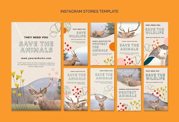 Salvar histórias de animais no instagram