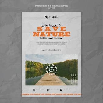 Salvar modelo de pôster da natureza
