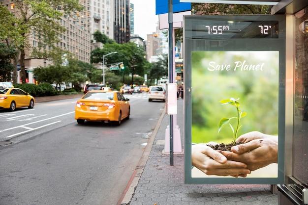 Salvar o cartaz do planeta com maquete