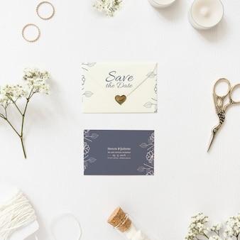Salvar o maquete do cartão de data