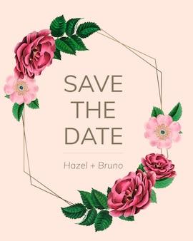 Salvar o modelo de data com rosas