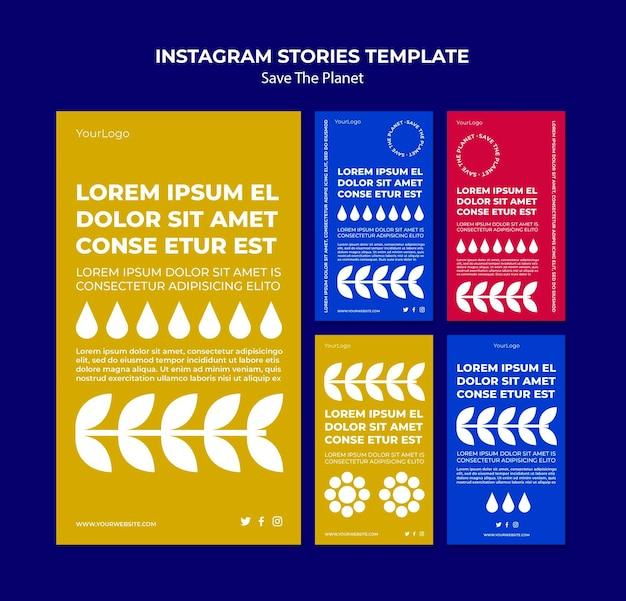 Salvar o modelo de histórias do instagram do planeta