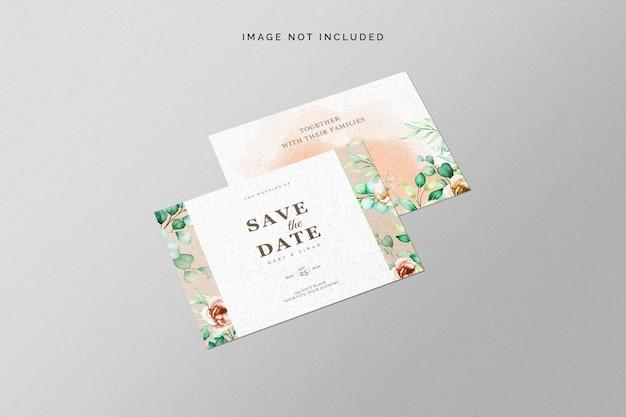 Salve a maquete do cartão de data