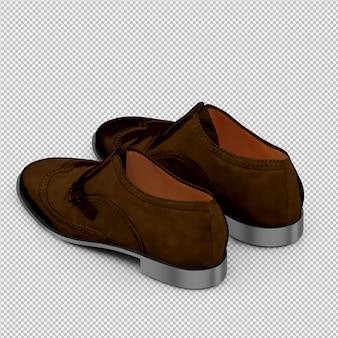 Sapatos isométricos 3d isolado render