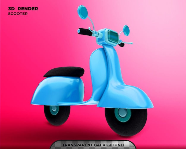 Scooter 3d render isolado