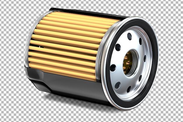 Seção transversal de filtros de óleo de motor pretos