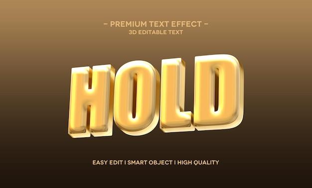 Segure modelo de efeito de texto 3d