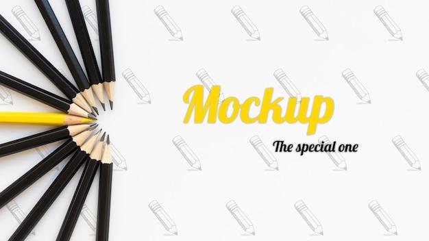 Seja diferente, seja maquete de conceito de lápis especial