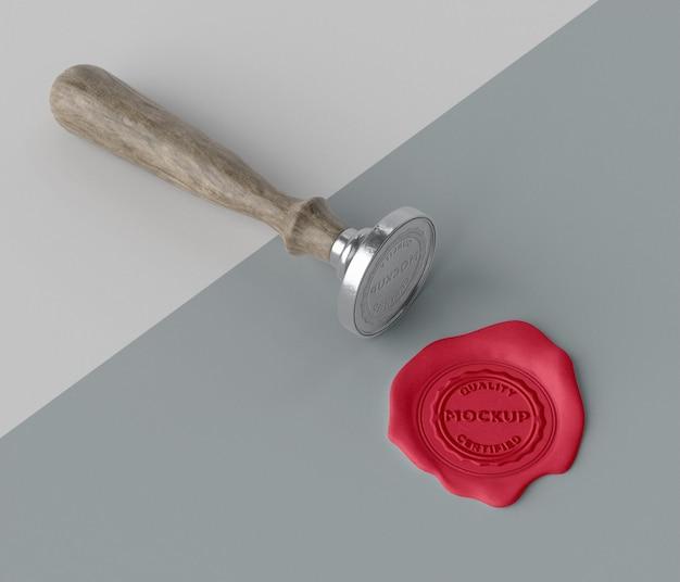 Selo de mock-up para variedade de envelope
